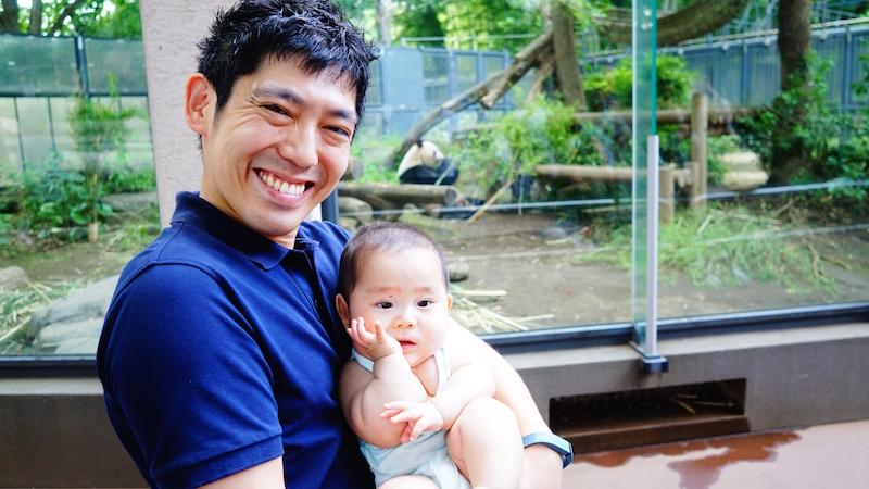 赤ちゃん,上野動物園,パパ,パンダ