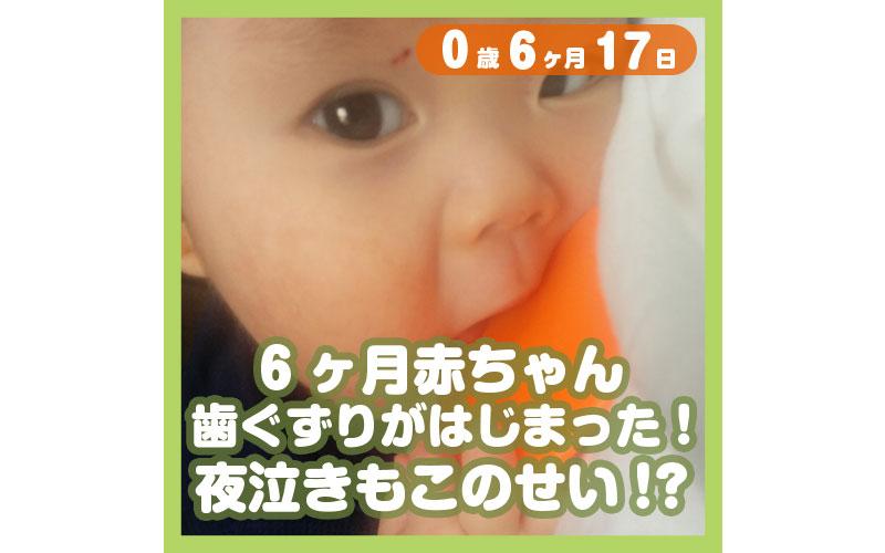 0-06-17_6ヶ月赤ちゃん、歯ぐずりがはじまった!夜泣きもこのせい!?_800