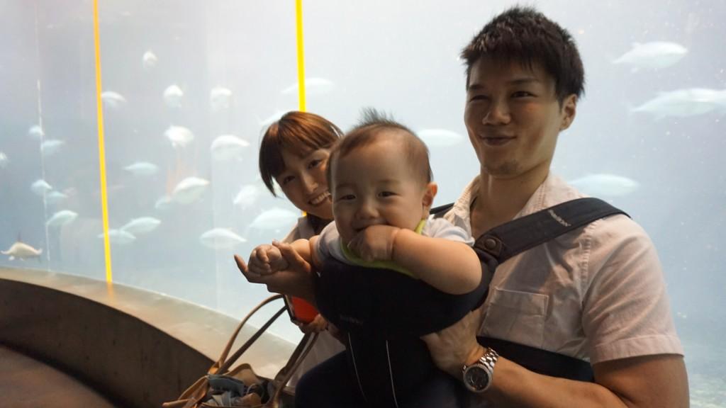 葛西臨海水族館,親子,赤ちゃん,ベビービョルン,抱っこ,エルゴ