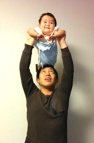 父息子ダルビッシュ高い高い