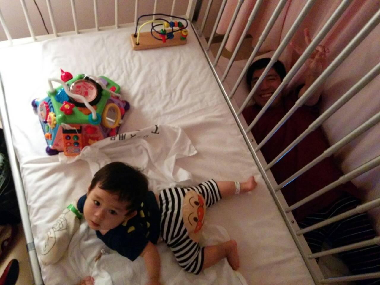 10ヶ月赤ちゃんRSウイルス入院ベッド付き添い