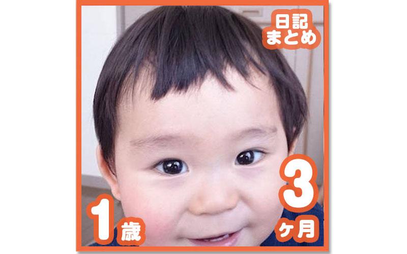 1歳3ヶ月の成長日記