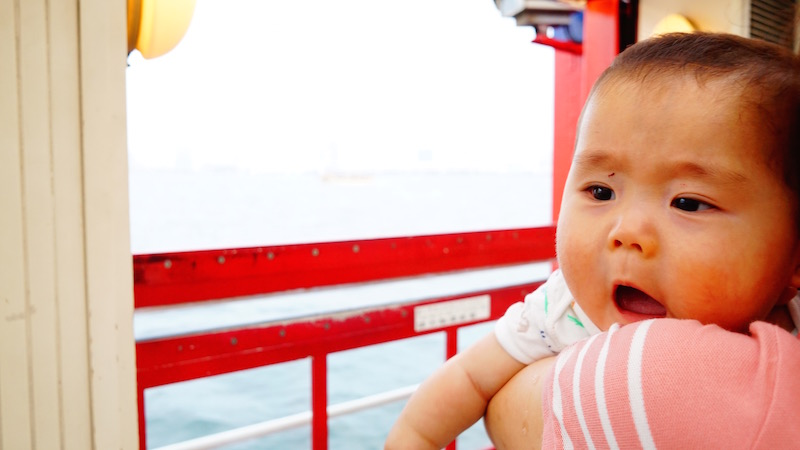 赤ちゃん,水上バス,浅草,日の出桟橋,お台場