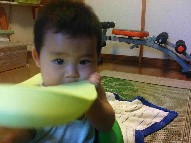 離乳食,二回食,8ヶ月,8ヶ月,散らかす1