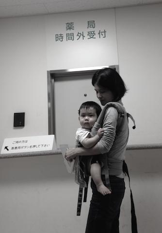 深夜,病院,救急,赤ちゃん
